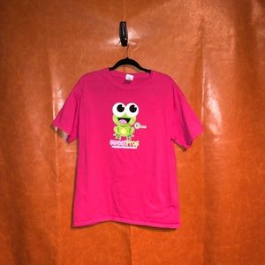 Sweet Frog -Hot pink tee shirt